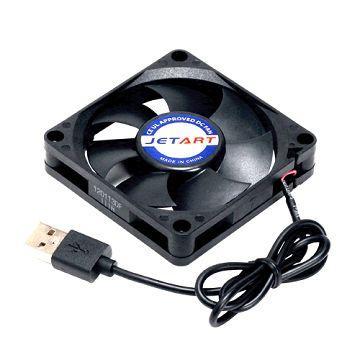 JETART 7公分 USB 靜音系統風扇