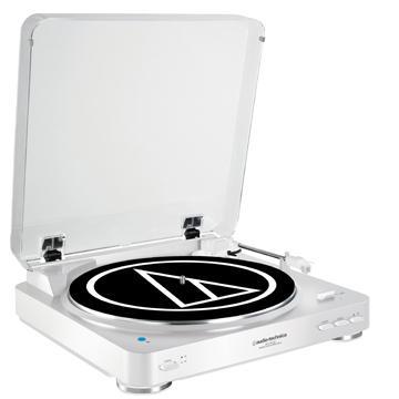 audio-technica藍牙黑膠唱盤(AT-LP60BT-白)
