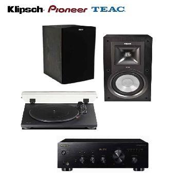 Pioneer擴大機+TEAC唱盤+Klipsch喇叭組(A-20+TN-100+KB-15)