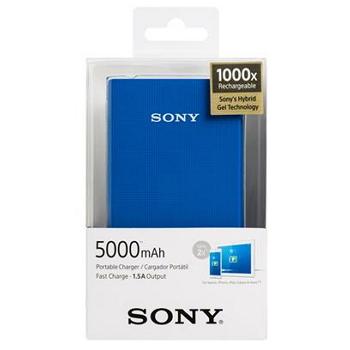 【5000mAh】SONY 行動電源(藍)(CP-V5A/BLC)