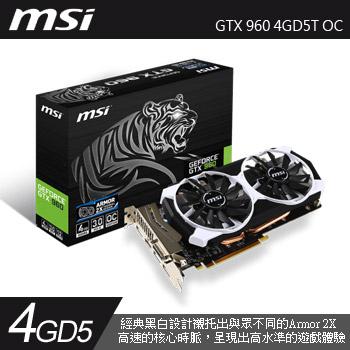 MSI GTX 960 4GD5T OC (老虎板)(GTX 960 4GD5T OC)