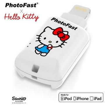 【iOS microSD 讀卡機】PhotoFast Kitty白色(A500088)