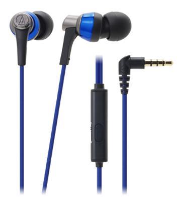 鐵三角 CKR3iS耳塞式耳機-藍(ATH-CKR3iS BL)