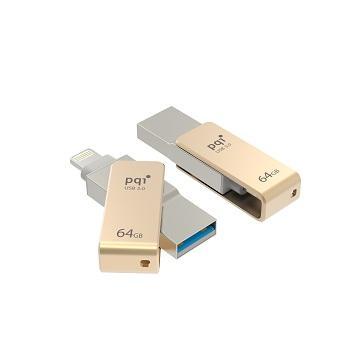 【64G】PQI iConnect mini蘋果專用(金)隨身碟(mini002-64G 金)