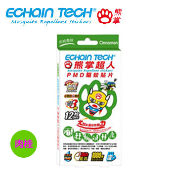 Echain tech 熊掌超人驅蚊貼片12枚裝(貼片12枚裝-肉桂)