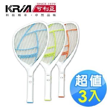 KRIA可利亚 忽必猎电蚊拍KR-008【3入】(KR-008(3入))