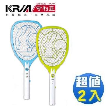 KRIA可利亚 忽必猎电蚊拍KR-007【2入】(KR-007(2入))