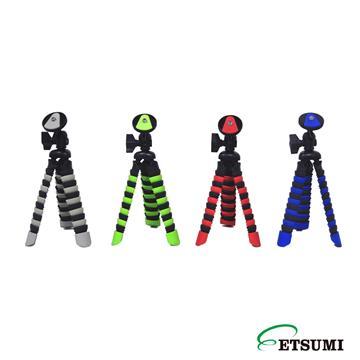 日本ETSUMI手機魔術腳架(E2088+手機夾)-紅((E2088+手機夾))