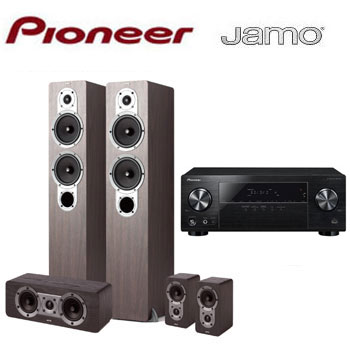 PIONEER 5.1聲道AV環繞擴大機+JAMO 五聲道喇叭組(VSX-531-B)