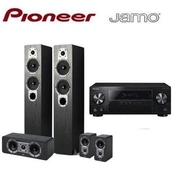 PIONEER 5.1声道AV环绕扩大机+JAMO 五声道喇叭组(VSX-531-B)