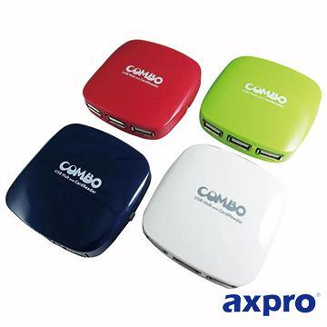 AXPRO AXP738 二合一讀卡機+HUB(AXP738)