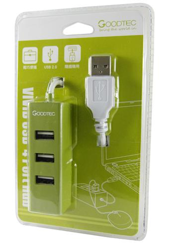 酷格 Vivid USB 4Port集線器-綠色(GH-234GN-TK)