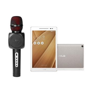 「隨身K歌組合」【WiFi版】ASUS ZenPad 8.0 16G 平板電腦 玫瑰金 + KINYO藍牙K歌麥克風喇叭(Z380M-6L024A)