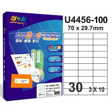 彩之舞 进口3合1白色标签(U4456-100)