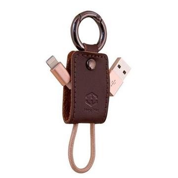 黑米 Android鑰匙扣充電數據線-棕(HU2FTMGK)
