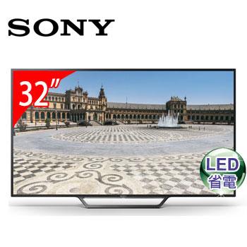 【福利品】SONY 32型LED智慧型液晶電視(KDL-32W600D)