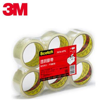 3M Scotch 3036-6 透明封箱膠帶(7100078025)