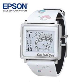 EPSON Kikilala 雙星仙子銀色手錶(W2-LT10120)