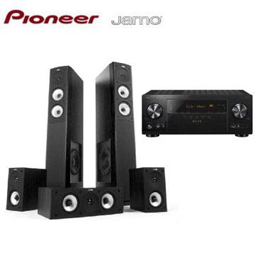 Pioneer 7.2聲道AV環繞擴大機+JAMO 5聲道喇叭組(黑)