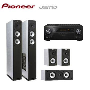 Pioneer 7.2聲道AV環繞擴大機+JAMO 5聲道喇叭組(白)(VSX-LX101-B)