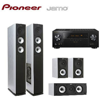 Pioneer 7.2聲道AV環繞擴大機+JAMO 5聲道喇叭組(白)