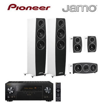 Pioneer 7.2声道AV环绕扩大机+Jamo 5声道喇叭组(VSX-LX101-B)