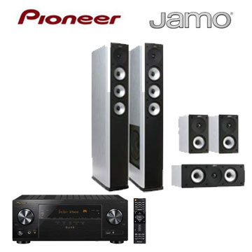 Pioneer 7.2声道AV环绕扩大机+JAMO 5声道喇叭组(白)(VSX-LX101-B)