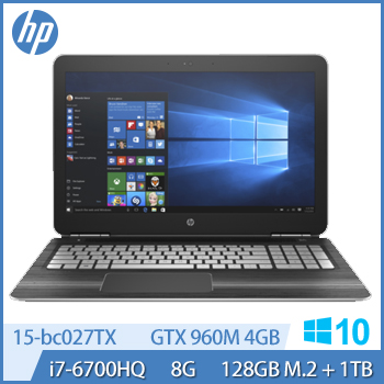 HP Pavilion 15-bc027TX Ci7 GTX960 電競獨顯筆電-星空銀