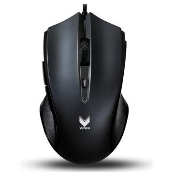 VPRO V20S全彩RGB電競光學滑鼠-磨砂黑(V20S-BLACK)