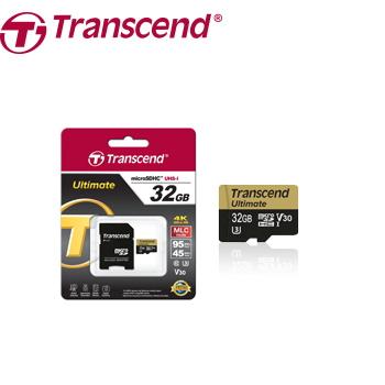 【U3】創見 Micro SD 32G記憶卡-附轉卡(TS32GUSDU3)