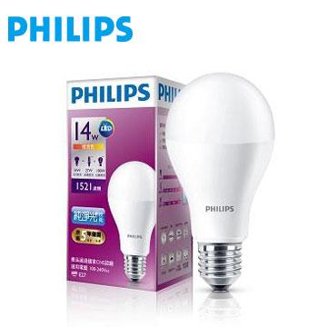 飛利浦全電壓 LED燈泡14W黃光(929001199245)