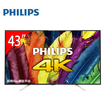 【福利品】PHILIPS 43型 4K LED智慧聯網液晶顯示器