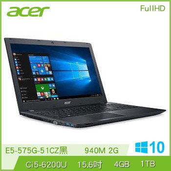 ACER E5-575G Ci5 940M筆記型電腦(E5-575G-51CZ黑)