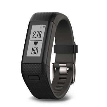 「9成新福利品」Garmin vivosmartHR+腕式心率GPS手環-黑