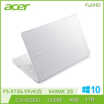 ACER F5-573G Ci5 NV940 獨顯筆電(F5-573G-55VK白)