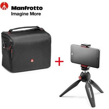 Manfrotto PIXI ART 限量版輕巧迷你腳架+Essential經典玩家肩背包 M()