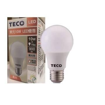東元10W LED燈泡(黃光)全電壓(XYFLE10L)