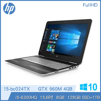 【福利品】HP Pavilion 15-bc024TX Ci5 GTX960 輕薄獨顯筆電-星空銀