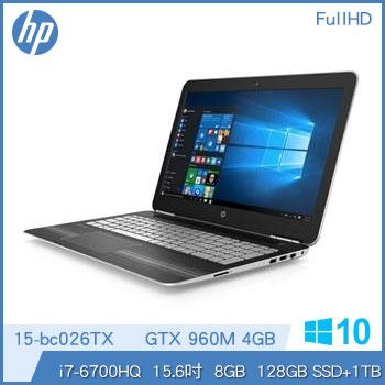混碟款 HP Pavilion 15-bc026TX Ci7 GTX960 輕薄獨顯筆電-星空銀 15-bc026TX