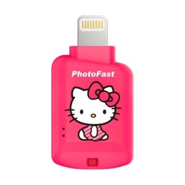 【 iOS microSD 讀卡機】PhotoFast Kitty桃紅(A500100)