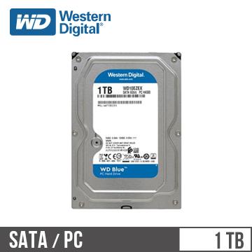 【1TB】WD 3.5吋 SATA硬碟(藍標)(WD10EZEX/3y)