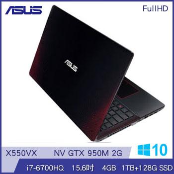 ASUS X550VX Ci7 GTX950 混碟效能筆電-黑紅(X550VX-0113J6700HQ黑紅)