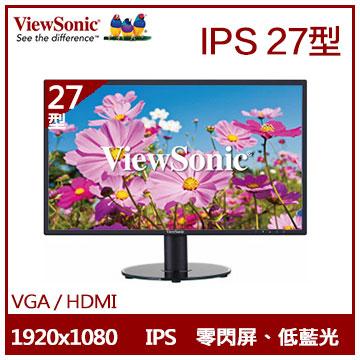 【27型】ViewSonic IPS液晶顯示器(VA2719-SH)
