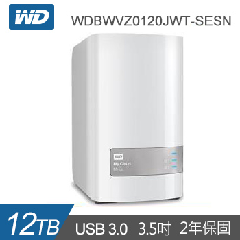 【12TB (6TBx2)】WD 雲端儲存 MyCloudMirror Gen2(WDBWVZ0120JWT-SESN)