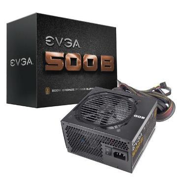 艾維克 EVGA 500B 500W 80PLUS 銅牌 電源供應器 (100-B1-0500-V7) 五年保固