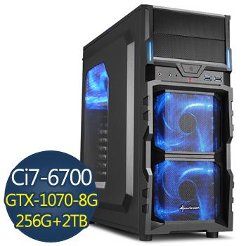 【福利品】微星 i7-6700 16G 2TB+256SSD GTX1070 電競獨顯(i7-6700-TK)