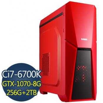 微星電競 i7-6700K 16G 2TB+256 SSD GTX1070強力獨顯(i7-6700K-TK)