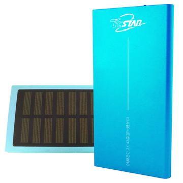 【7500mAh】TC STAR太陽能鋰聚合物行動電源-藍色