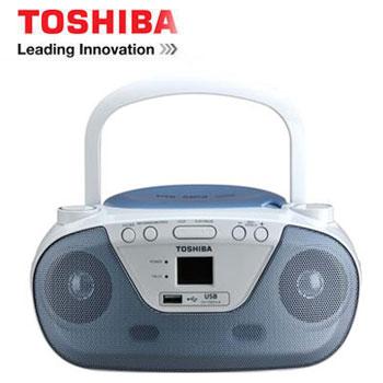 【福利品】 TOSHIBA USB手提CD音響(TY-CRU8TW(L)藍)