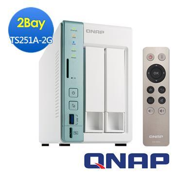 QNAP威聯通 TS-251A-2G網路儲存伺服器(TS-251A-2G)